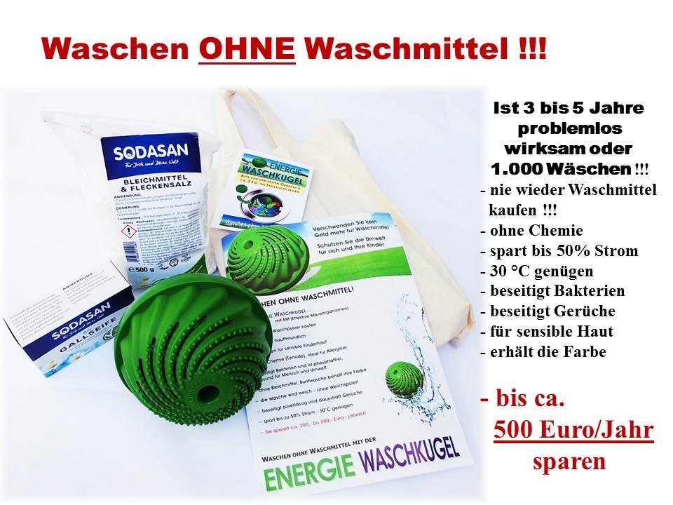 Energie-Waschkugel