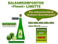 Balsamkomposition -FINEST- Limette 100ml